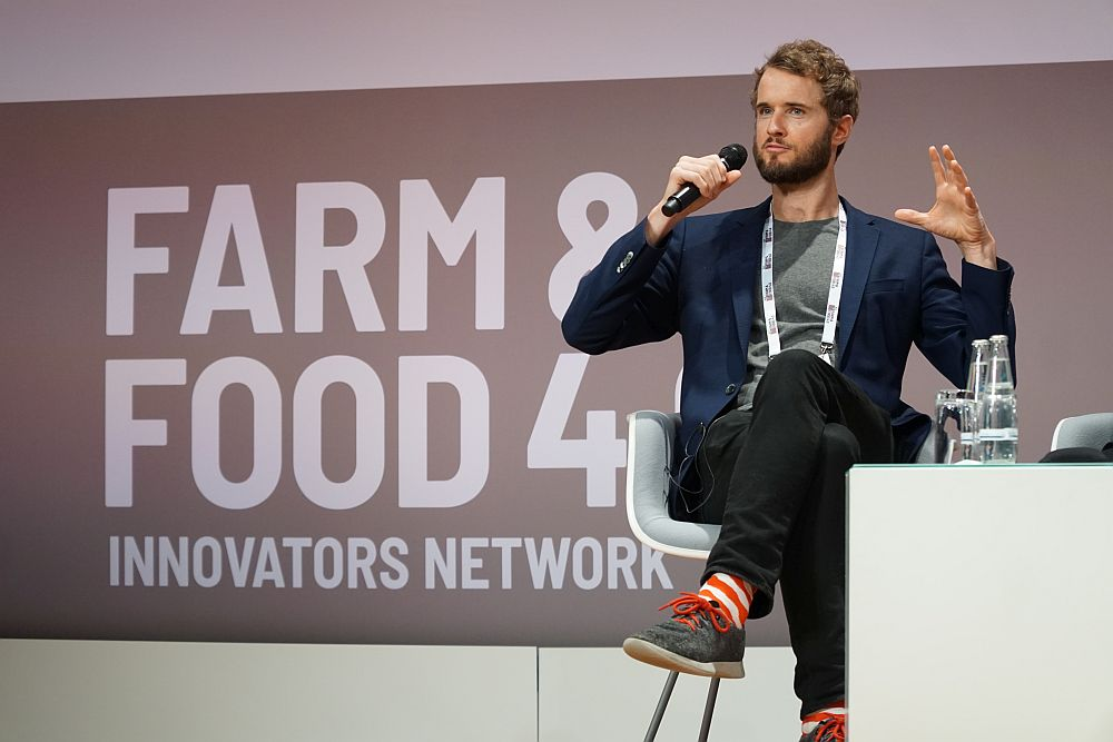 Bryan Spears at the Farm & Foods 4.0 congress in Berlin.