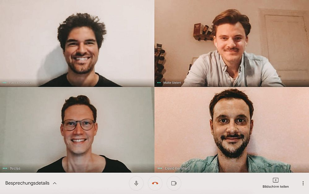 Die Initiatoren von #PayNowEatLater: Patrick Kosmala (Taste Tours), Malte Steiert (Foodguide), Niclas Störmer (Urban Guru) und David Bernhard (Geheimtipp Hamburg).