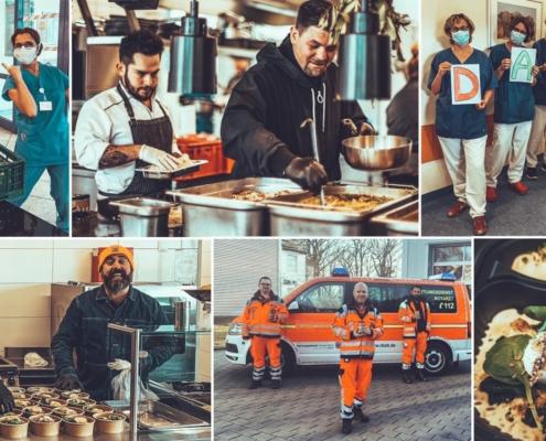 Collage Kochen für Helden