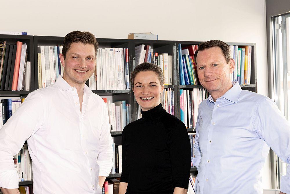 Die Drei vom Growth Dock: Dr. Lars Lammers, Insa Horsch und Dr. Bastian Schmidt-Vollmer.