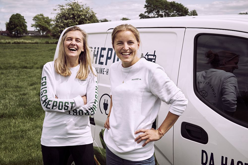 Juliane Willing und Eva Neugebauer, die Gründerinnen von Frischepost.