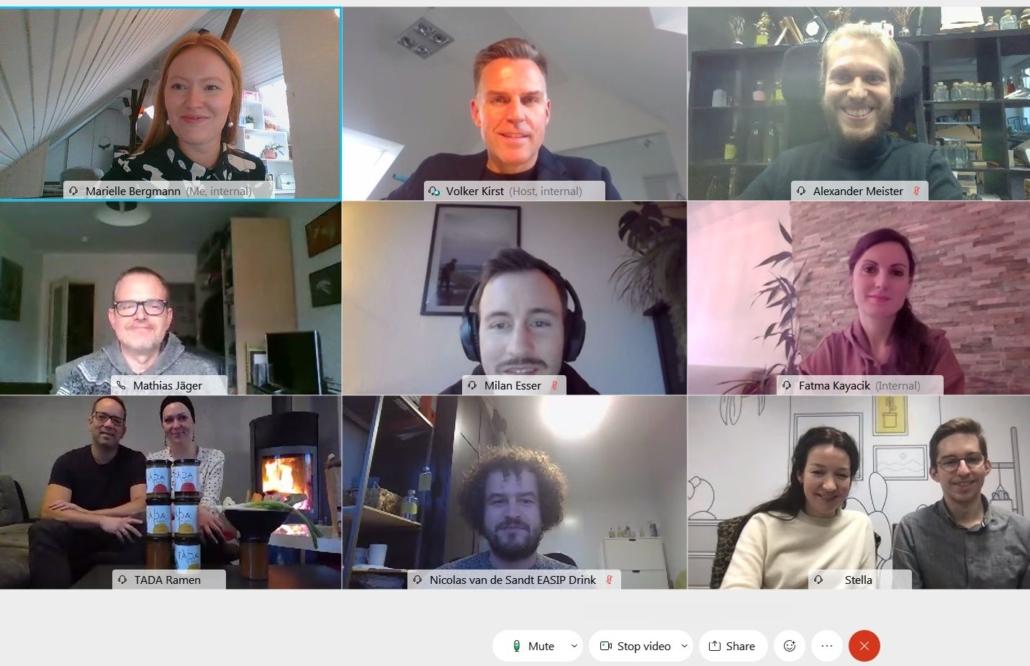 So sehen Workshops im Zeitalter von Videokonferenzen aus.
