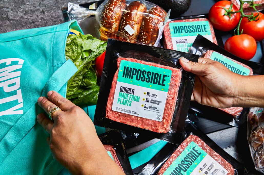 Die veganen Patties von Impossible Burger sind variable einsetzbar (Foto: Impossible Foods)