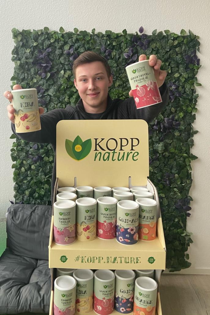 Kopp nature founder Jona Kopp with his tea range
