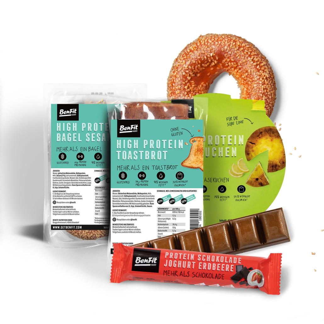 Eine Auswahl von BenFit-Produkten.