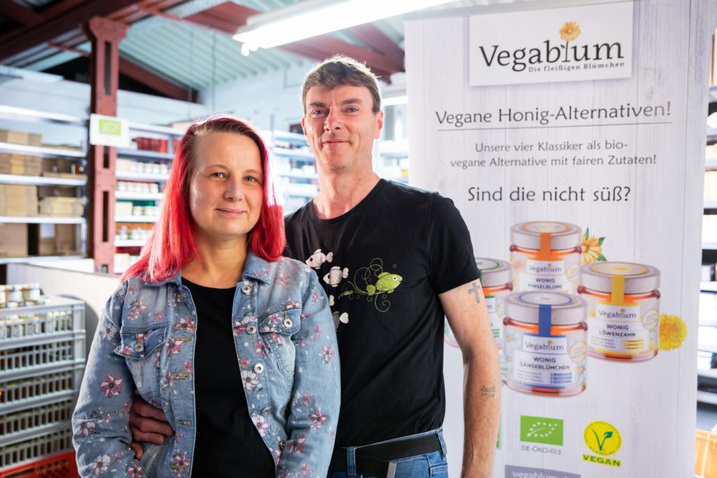 Das Gründungsduo von Vegablum: Daniela Nowak und Stephan Weidtmann (Foto: Udo Geisler)