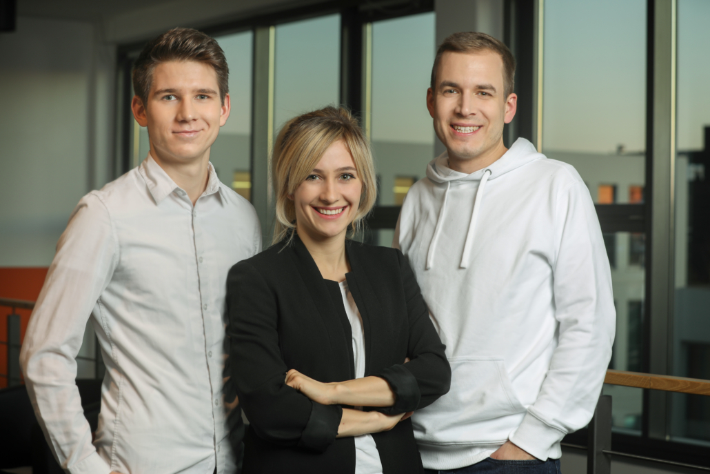 Das Gründungstrio von Wisefood: Maximilian Lemke, Patricia Titz und Philipp Silbernagel (Foto: Wisefood)