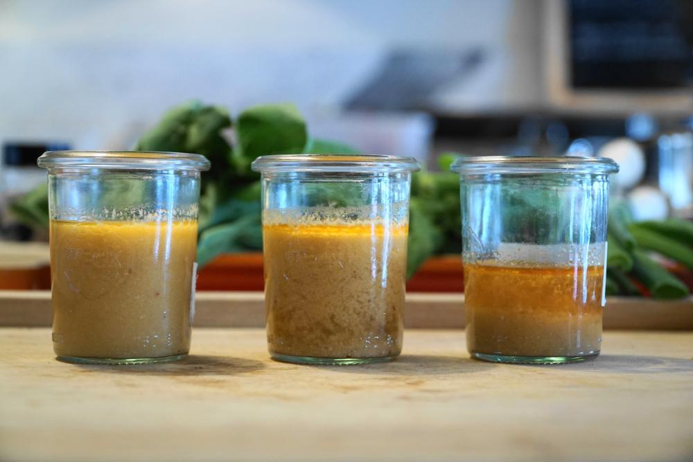 Kartoffelflocken geben der Suppe dauerhaft eine einheitliche Konsistenz.