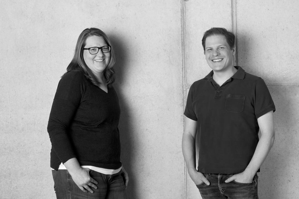 Das Gründerpaar Claudia und Benedikt Sauter (Foto: xentral)