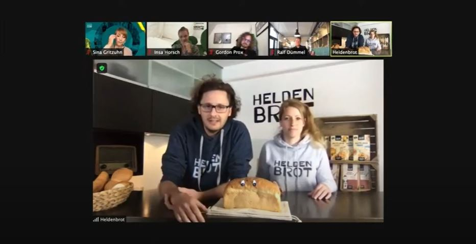 Felix Pfeffer und Janine Trappe erzählen ihre Heldenbrot-Geschichten.