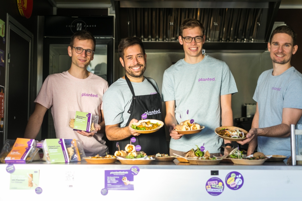 Die Gründer von Planted: Lukas Böni, Pascal Bieri, Eric Stirnemann und Christoph Jenny