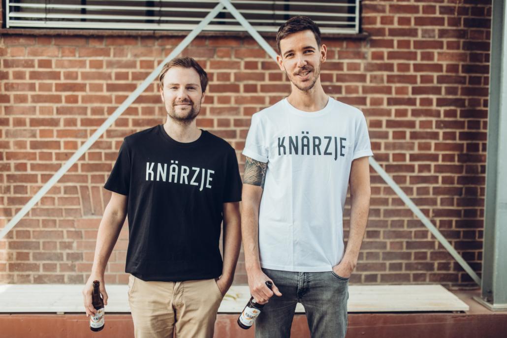 Trinken gegen Lebensmittelverschwendung: Ralf Wagner und Daniel Anthes, die Gründer von Knärzje.