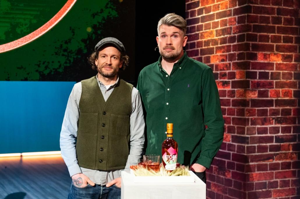 Bastian Heuser und Sebastian Brack mit dem Stork Club Whiskey Rosé-Rye Aperitif.