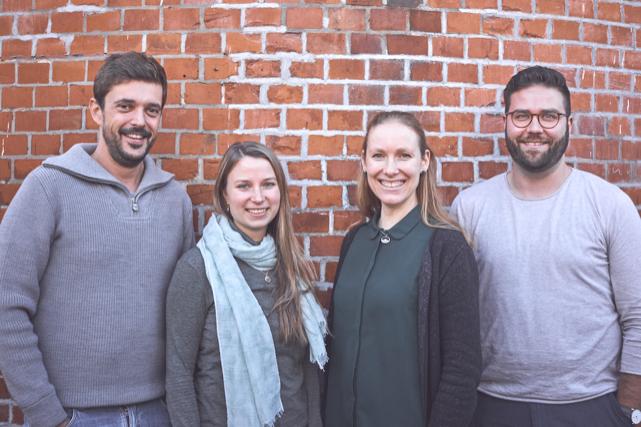 Team Liekedeeler: Georg Neubauer, Kathrin Lenz, Julia Lehmann und Moritz Reuter.